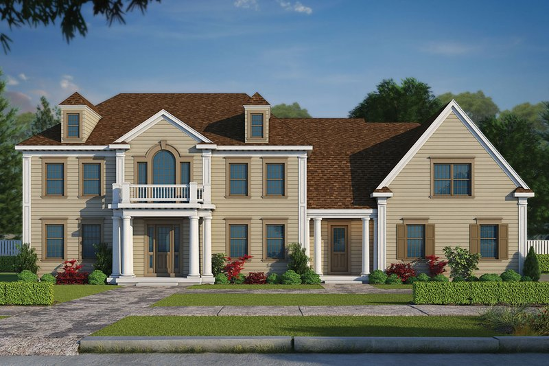 Colonial Exterior - Front Elevation Plan #20-2277