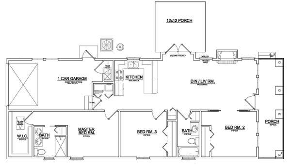 Craftsman Floor Plan - Main Floor Plan Plan #550-1