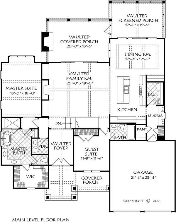 Home Plan - Craftsman Floor Plan - Main Floor Plan #927-1012