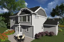 Dream House Plan - Bungalow Exterior - Rear Elevation Plan #70-1247