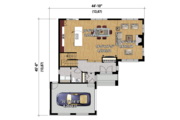 Contemporary Style House Plan - 3 Beds 1.5 Baths 1848 Sq/Ft Plan #25-4300 Floor Plan - Main Floor Plan