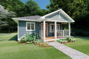 Cottage Style House Plan - 1 Beds 1 Baths 624 Sq/Ft Plan #126-178 Exterior - Other Elevation