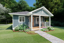 Home Plan - Cottage Exterior - Other Elevation Plan #126-178