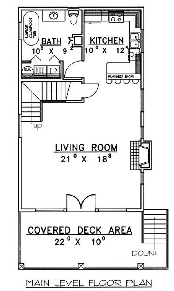 Bungalow Floor Plan - Main Floor Plan Plan #117-543