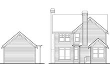 Craftsman Exterior - Rear Elevation Plan #48-339