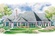Country Style House Plan - 4 Beds 2.5 Baths 3312 Sq/Ft Plan #20-1112 Exterior - Rear Elevation