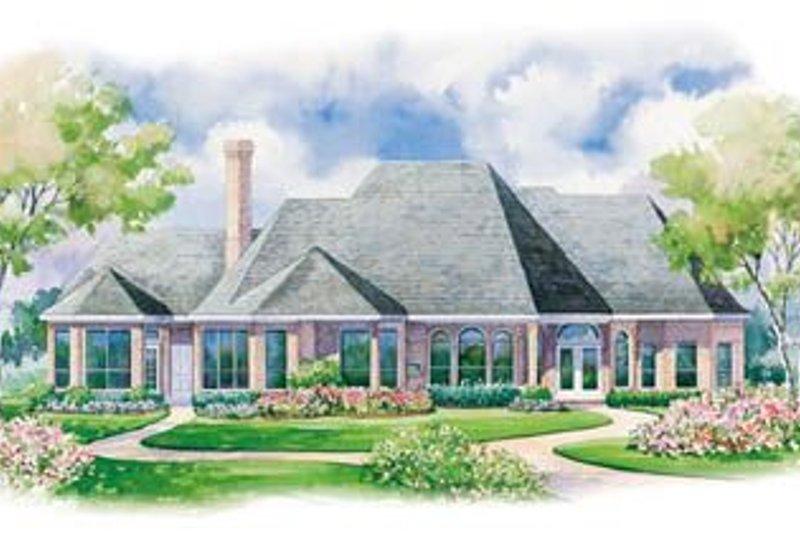 Country Exterior - Rear Elevation Plan #20-1112 - Houseplans.com