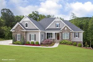 Ranch Exterior - Front Elevation Plan #929-881