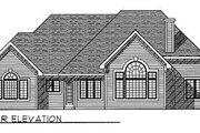 Traditional Style House Plan - 3 Beds 2.5 Baths 2629 Sq/Ft Plan #70-421 Exterior - Rear Elevation
