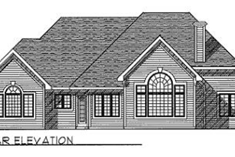Traditional Exterior - Rear Elevation Plan #70-421 - Houseplans.com
