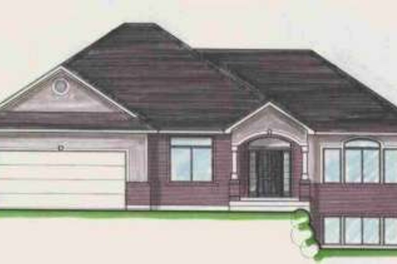 Traditional Style House Plan - 4 Beds 3 Baths 3824 Sq/Ft Plan #308-113 Exterior - Front Elevation