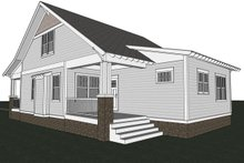 Craftsman Exterior - Rear Elevation Plan #461-18