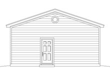 Country Exterior - Rear Elevation Plan #932-304