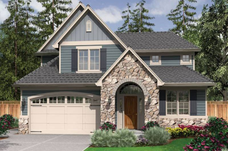 Traditional Style House Plan - 3 Beds 2.5 Baths 1988 Sq/Ft Plan #48-522 Exterior - Front Elevation