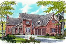 Dream House Plan - European Exterior - Front Elevation Plan #413-815