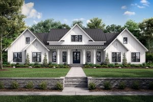 Dream House Plan - Farmhouse Exterior - Front Elevation Plan #430-222