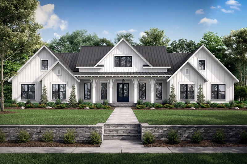 Architectural House Design - Farmhouse Exterior - Front Elevation Plan #430-222
