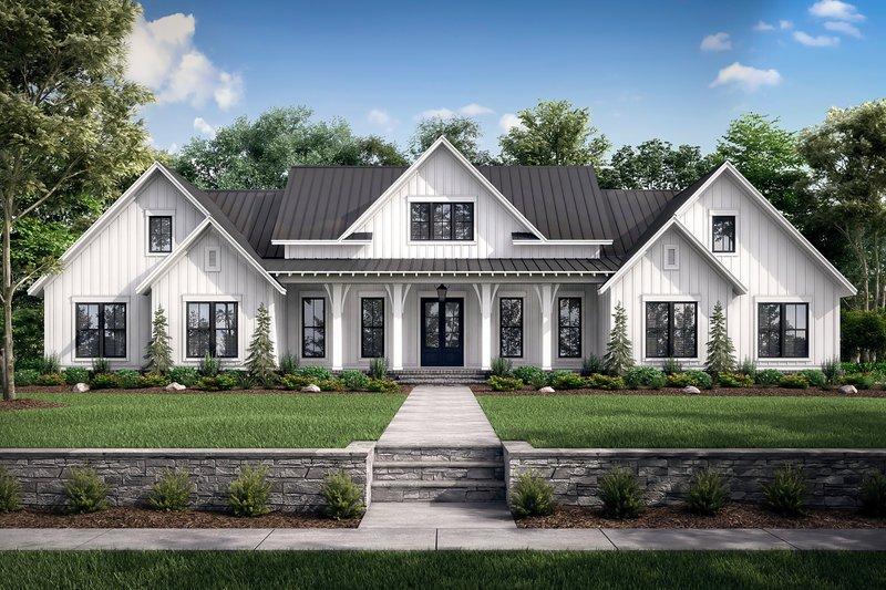 Dream House Plan - Farmhouse Exterior - Front Elevation Plan #430-222
