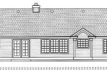Home Plan - Traditional Exterior - Rear Elevation Plan #93-101