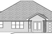 Traditional Style House Plan - 2 Beds 2.5 Baths 1587 Sq/Ft Plan #70-608 Exterior - Rear Elevation
