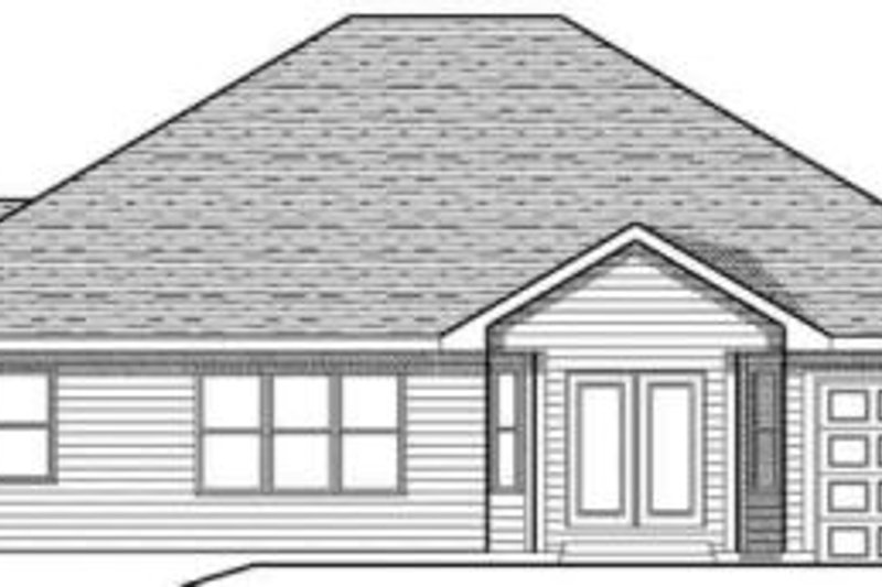 Traditional Exterior - Rear Elevation Plan #70-608 - Houseplans.com