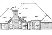 European Style House Plan - 4 Beds 3 Baths 2680 Sq/Ft Plan #310-270 Exterior - Rear Elevation