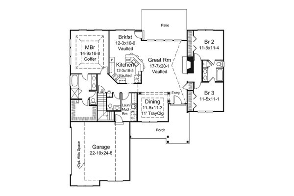 Dream House Plan - Ranch Floor Plan - Main Floor Plan #57-664
