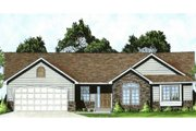 Traditional Style House Plan - 3 Beds 2 Baths 1289 Sq/Ft Plan #58-172