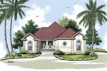 Home Plan - Mediterranean Exterior - Front Elevation Plan #45-141