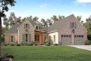 European Style House Plan - 3 Beds 2.5 Baths 2217 Sq/Ft Plan #430-131 Exterior - Front Elevation