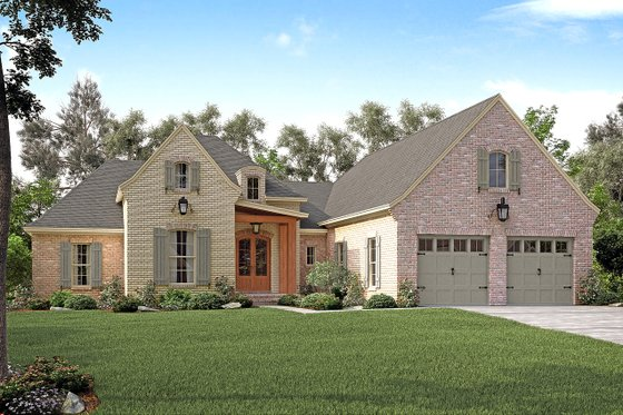House Plan Design - European Exterior - Front Elevation Plan #430-131
