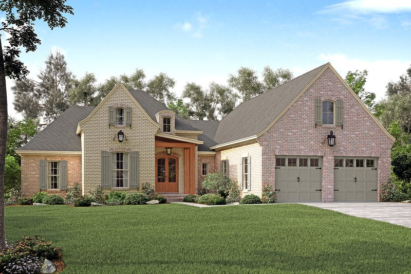 European Exterior - Front Elevation Plan #430-131