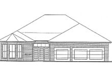 Dream House Plan - Colonial Exterior - Rear Elevation Plan #310-701