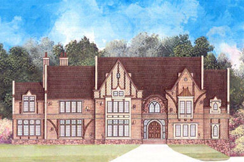 European Exterior - Front Elevation Plan #119-301
