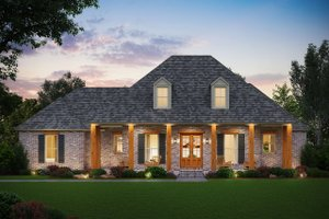 Home Plan - Farmhouse Exterior - Front Elevation Plan #1074-18