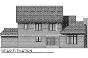 Traditional Style House Plan - 4 Beds 2.5 Baths 2193 Sq/Ft Plan #70-330 Exterior - Rear Elevation