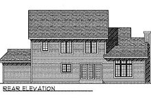 House Plan Design - Traditional Exterior - Rear Elevation Plan #70-330