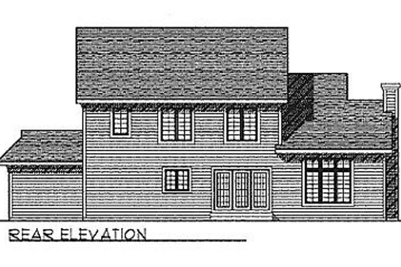 Traditional Exterior - Rear Elevation Plan #70-330 - Houseplans.com