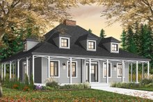Home Plan - Country Exterior - Front Elevation Plan #23-2091