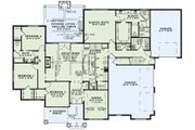 European Style House Plan - 4 Beds 3.5 Baths 2470 Sq/Ft Plan #17-2560 Floor Plan - Main Floor