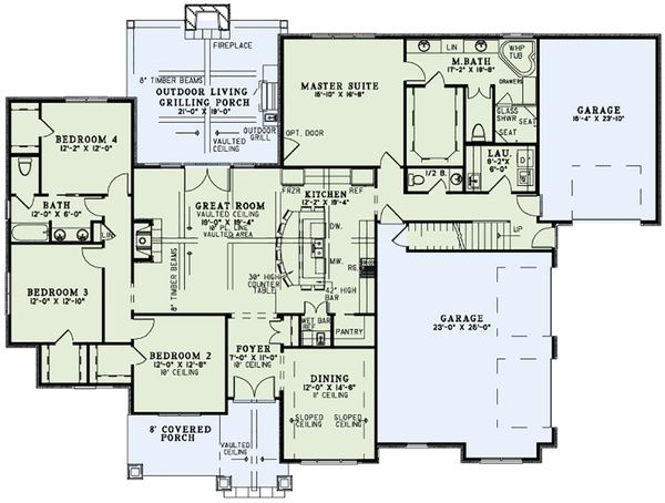 European Floor Plan - Main Floor Plan Plan #17-2560