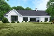 Traditional Style House Plan - 4 Beds 2.5 Baths 1967 Sq/Ft Plan #923-150 Exterior - Rear Elevation