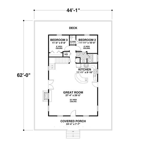 Cottage Floor Plan - Main Floor Plan #56-625