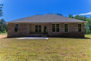 Country Style House Plan - 4 Beds 2 Baths 1719 Sq/Ft Plan #430-178 Exterior - Rear Elevation