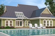 House Design - Craftsman Exterior - Rear Elevation Plan #45-586