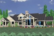 Craftsman Style House Plan - 3 Beds 3 Baths 3163 Sq/Ft Plan #509-4 Exterior - Front Elevation