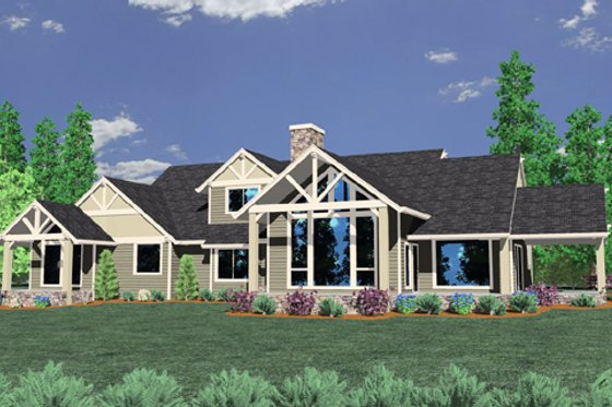 Craftsman Exterior - Front Elevation Plan #509-4