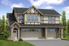 Home Plan - European Exterior - Front Elevation Plan #124-1037