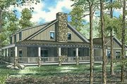 Country Style House Plan - 10 Beds 3.5 Baths 4134 Sq/Ft Plan #17-652 Exterior - Rear Elevation