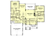 Country Floor Plan - Main Floor Plan Plan #430-151